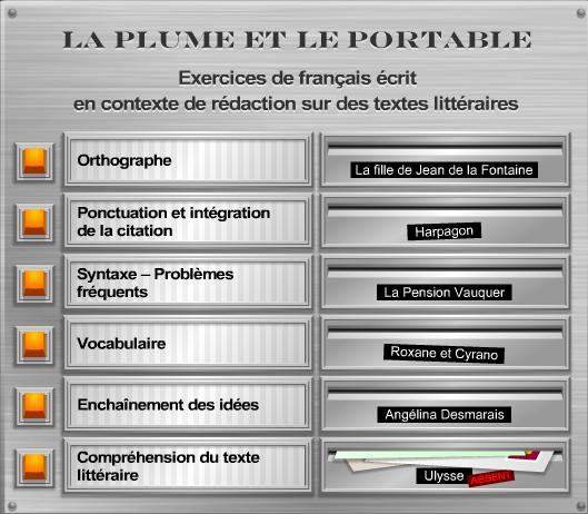 La plume et le portable – exercices de français écrit sur des textes littéraires